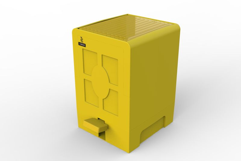 Anti spreading garbage disposal box