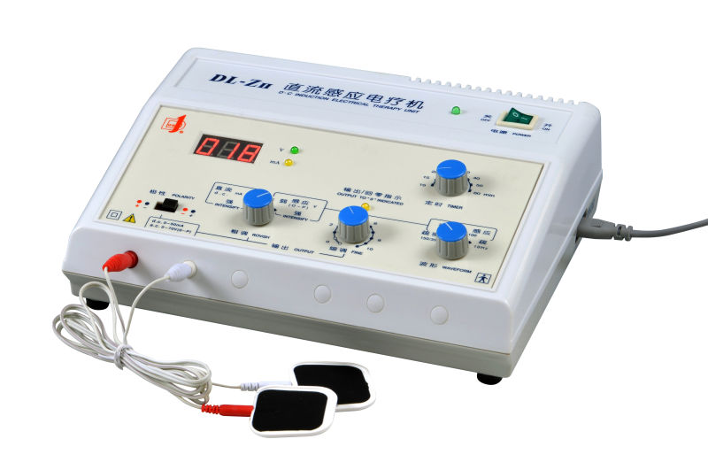 DC induction electrotherapy apparatus
